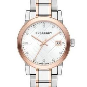 New Burberry Two-tone Diamond Ladies Bu9127 Watch